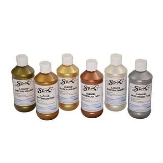 Sax Liquid Watercolor Paint, 8 Ounces, Assorted Metallics, Set of 6