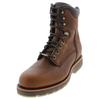 "Chippewa Mens 8"" Country Work Boots Leather Lace Up - 9 medium (d)"
