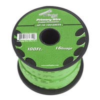 Audiopipe 16 gauge 100ft Green primary wire