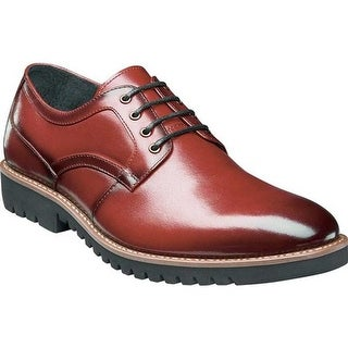 Stacy Adams Men's Barclay Plain Toe Oxford Cranberry Smooth Leather