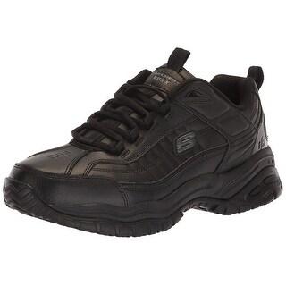 Skechers Men's Soft Stride Grinnel Black Leather Work 13 2E Us
