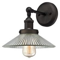 """Westinghouse 6335600 LEXINGTON Single Light 9-7/16"""" Tall Wall Sconce with Clear - Oil Rubbed bronze"""