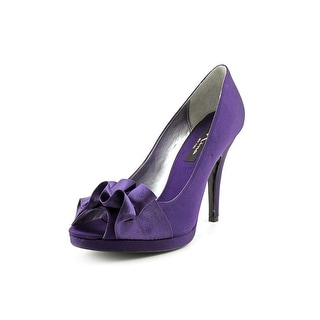 Nina Evelixa Women Peep-Toe Canvas Purple Heels