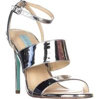 Blue by Betsey Johnson Jenna Mule Sandals, Silver