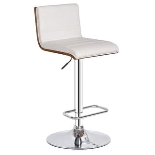 Bromi Design BF2410 Lexi 36-1/3 Inch Tall Adjustable Leather Bar Stool