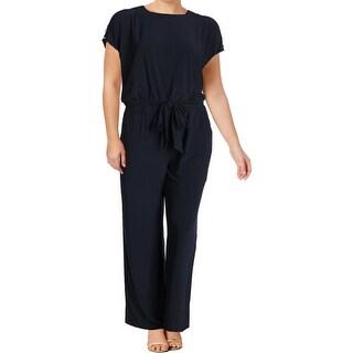 Lauren Ralph Lauren Womens Plus Sancia Jumpsuit Cold Shoulder Short Sleeve