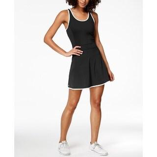 Ideology Women's Sleeveless Tennis Dress, Black, Size M - White - 8 - 10