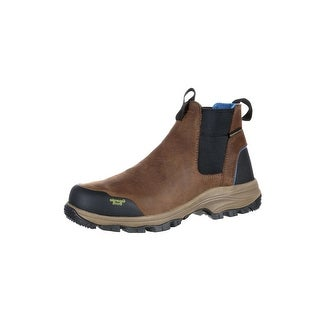 Georgia Boot Work Mens Blue Collar Chelsea WP Romeo Brown GB00106