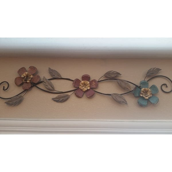 Top Product Reviews For Stratton Home Decor Floral Scroll Wall Decor 12861523 Overstock