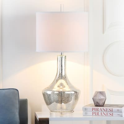 "SAFAVIEH Lighting 35-inch Silver Mercury Glass Table Lamp - 16""x16""x34.5"""