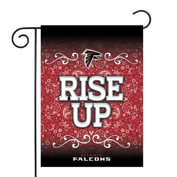 """18"""" x 13"""" Red and White NFL Atlanta Falcons Outdoor Garden Flag - N/A"""