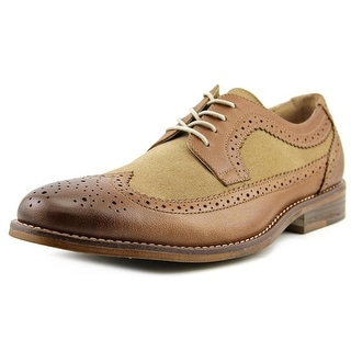 Bass Clinton Men  Wingtip Toe Leather Tan Oxford