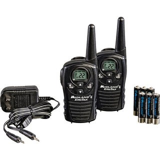 Midland 22-Channel Radios W/Rechargeable Batteries And Wall Charger