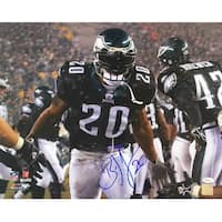 Brian Dawkins Signed 16x20 Philadelphia Eagles Black Jersey Photo JSA