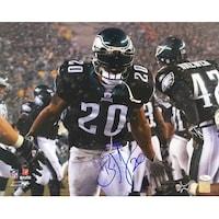 3de0abff Brian Dawkins Signed 16x20 Philadelphia Eagles Black Jersey Photo JSA