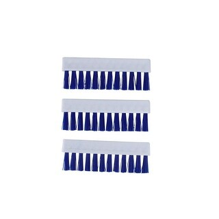 Pack of 3 Short Replacement Brushes For Swimming Pools and Spas Vacuum Head - White