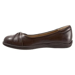 SoftWalk Womens Haverhill Leather Round Toe Loafers