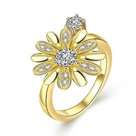 Charming Gold Daisy Ring