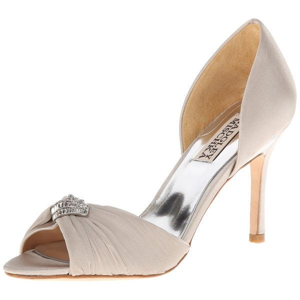 Badgley Mischka NEW Silver Women's Shoes Size 10M Jennifer Heel