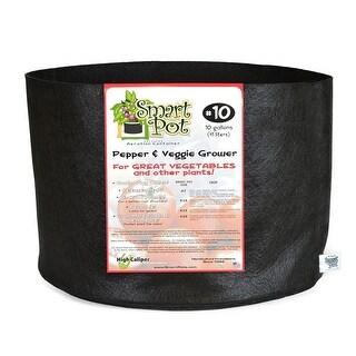 Smart Pot 11010RT Pepper & Veggie Grower Container, Black, #10, 10-Gallon
