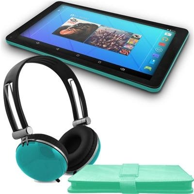 """Ematic Egq223sktl 10"""" Quad-Core Tablet With Android 5.1, Lollipop, Keyboard Folio Case And Headphones"""
