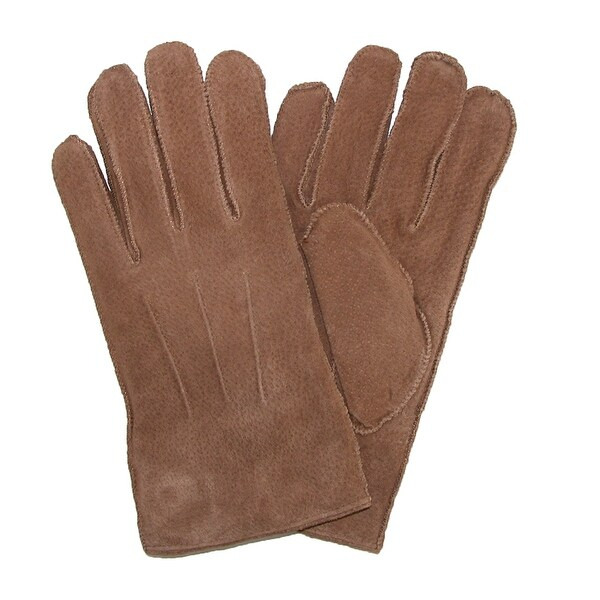 Levis Men's Pig Suede Leather Winter Gloves with Shearling Lining