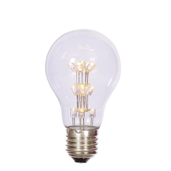 A19 LED WmWht Transp Bulb E26 Nk Base