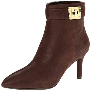 Rockport Womens Key Lock Booties Suede Shimmer