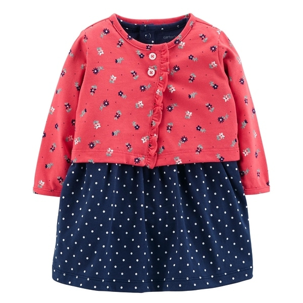 3f720ea13e7 Shop Carter s Baby Girls  2-Piece Bodysuit Dress   Cardigan Set - Free  Shipping On Orders Over  45 - Overstock - 26506943