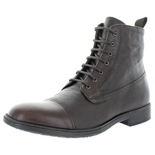 labios Biblia Multitud  Geox Respira Mens Jaylon Cap Toe Boots Leather Ankle - Dark Brown -  Overstock - 32114176