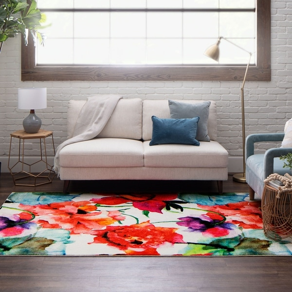 Mohawk Home Watercolor Bouquet Floral Area Rug. Opens flyout.