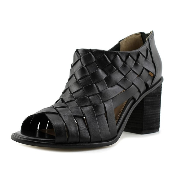 Corso Como Salem Women Peep-Toe Leather Black Heels