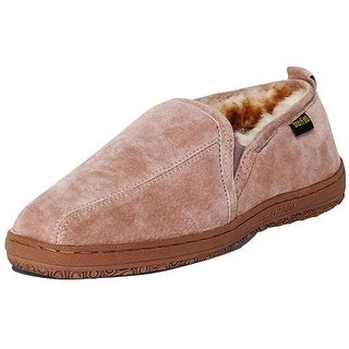 Old Friend Slippers Mens Sheepskin Romeo Moccasin Wide Chestnut 421205