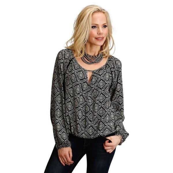 4d16314812b99 Shop Stetson Western Shirt Womens L S Paisley Lattice - Free ...