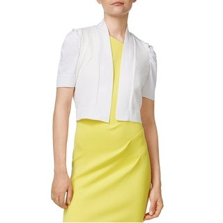 Calvin Klein Petite Puff Sleeve Open Front Shrug - pm