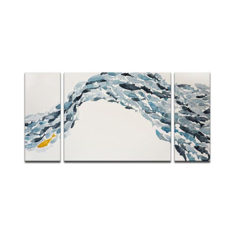 'Goldfish' Wrapped Canvas Coastal Wall Art Set by Norman Wyatt Jr.