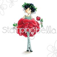 "Stamping Bella Cling Stamp 6.5""X4.5""-Garden Girl Rose"