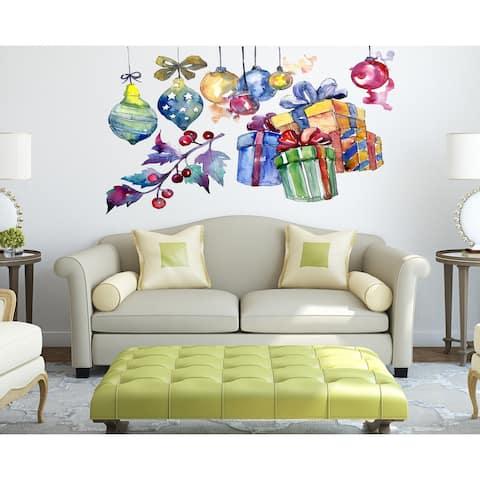 Christmas toys Presents Wall Decal, Christmas toys Presents Wall sticker, Christmas toys Presents wall decor