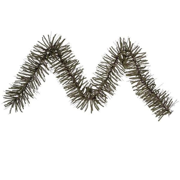 "9' x 10"" Vienna Twig Artificial Christmas Garland - Unlit - green"