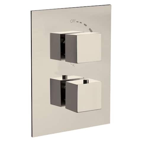Fortis 84690SQ Corsini Two Function Thermostatic Valve Trim Only with - Brushed Nickel