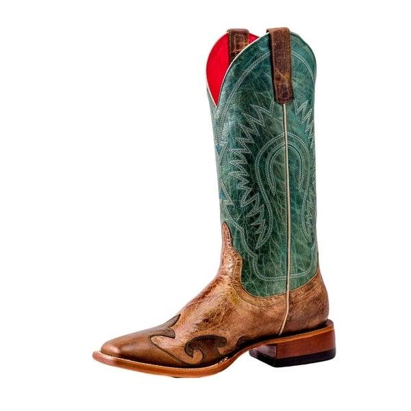 Macie Bean Western Boots Womens Wing Prayer DB Toe Honey Bunch