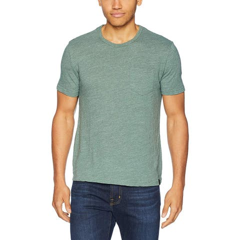 Lucky Brand Mens Heather Green Size Small S Basic Pocket T-Shirt Tee