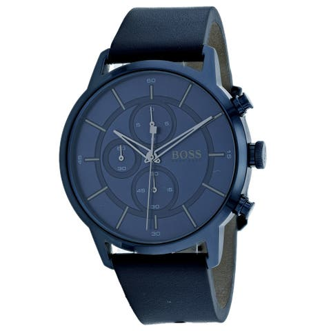 Hugo Boss Men's Architectural Blue Dial Watch - 1513575 - One Size