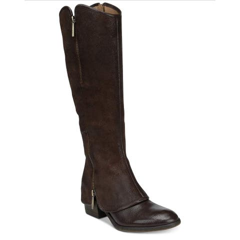 Donald J Pliner Womens Devi Leather Almond Toe Knee High Fashion Boots