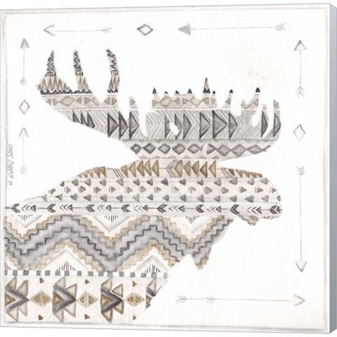 Cindy Shamp 'Patterned Moose' Canvas Art