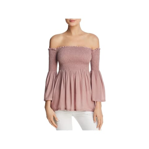 Chaser Womens Blouse Off-The-Shoulder Bell Sleeves - XL