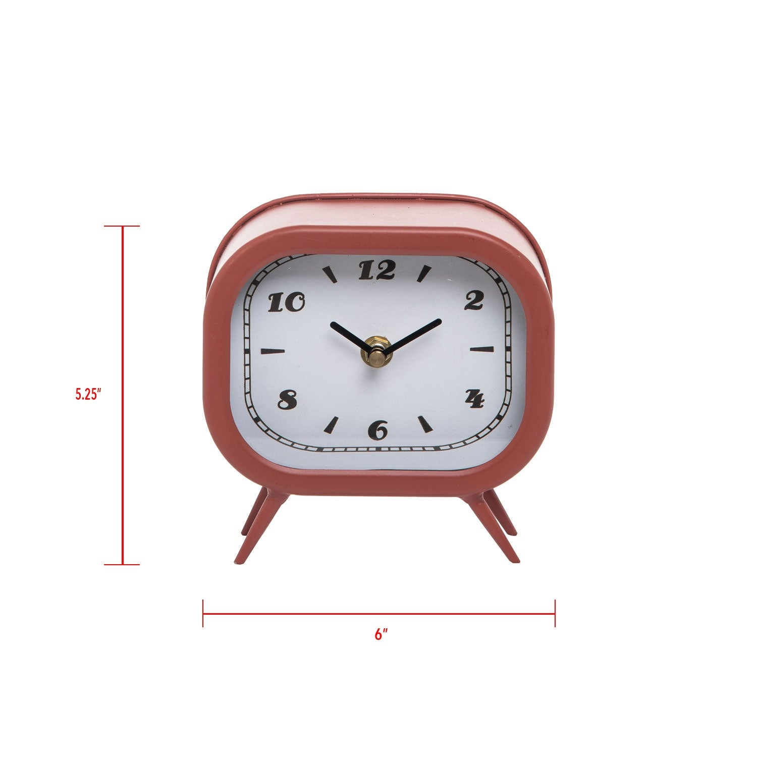 Metal Battery Operated Table Clock