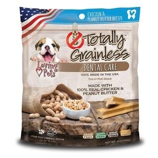 Loving Pets Totally Grainless Peanut Butter Chicken Dental Chews Small