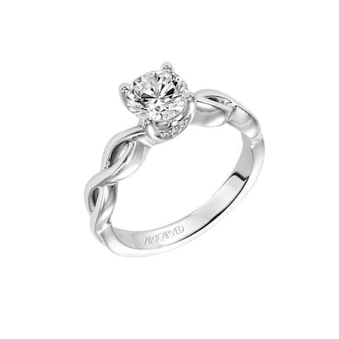 FREYA Platinum 0.75 CT Lab Created Diamond Solitaire Diamond Engagement Ring Infinity Twist by Artcarved Rings