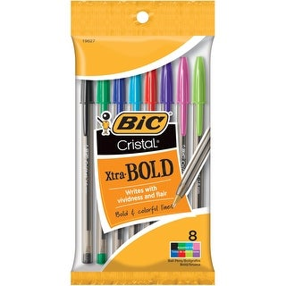 BIC Cristal Xtra Bold Pens 8/Pkg-Fashion Assorted Barrels - fashion assorted barrels